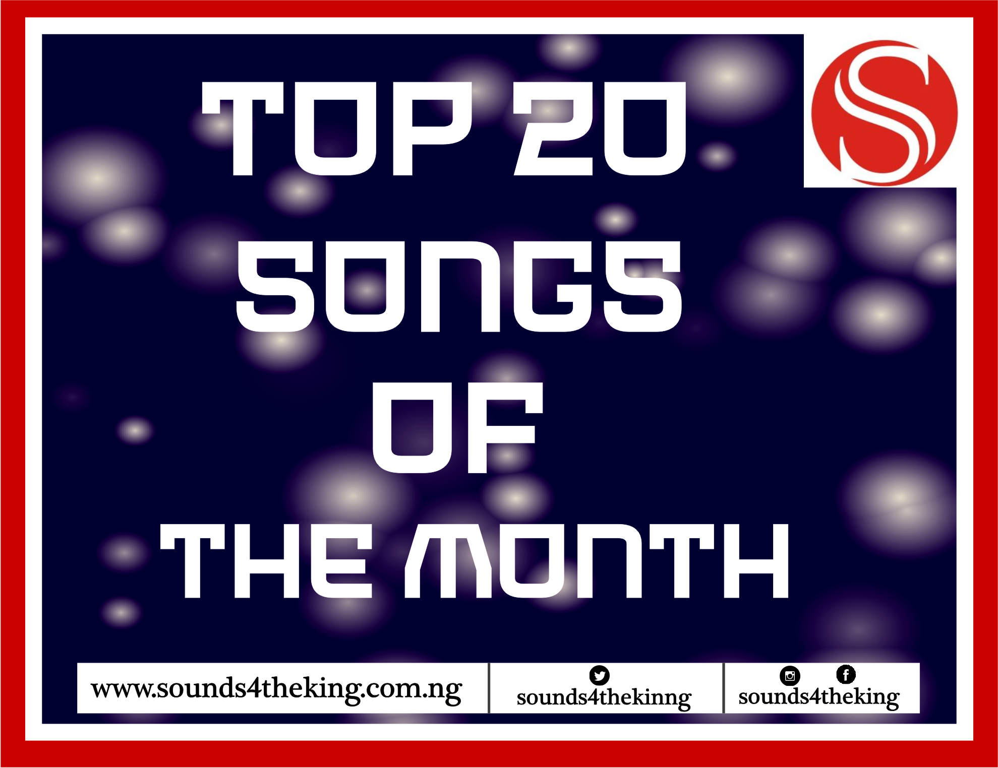 Top 20 songs of the month