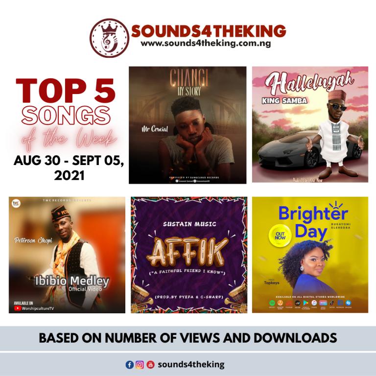 Top 5 Gospel Songs of the Week